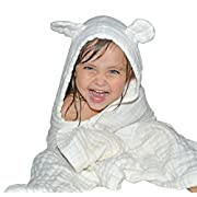 Baby Hooded Towel for Kids - Best for Keeping Baby Dry and Warm, Ultra Soft and Absorbent Hooded Bath Towels - Large Size 42 x28 , Ideal Baby Towels for Girls and Boys