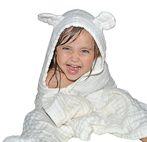 Baby Hooded Towel for Kids - Best for Keeping Baby Dry and Warm, Ultra Soft and Absorbent Hooded Bath Towels - Large Size 42''x28'', Ideal Baby Towels for Girls and Boys by Trendy BABY