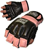 Womens MMA Kickboxing Fitness Bag Gloves - PURPLE (lavender) or PINK color - SMALL or MEDIUM size