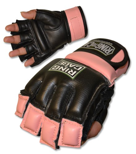 Womens MMA Kickboxing Fitness Bag Gloves – PURPLE (lavender) or PINK color – SMALL or MEDIUM size – Sports Center Store