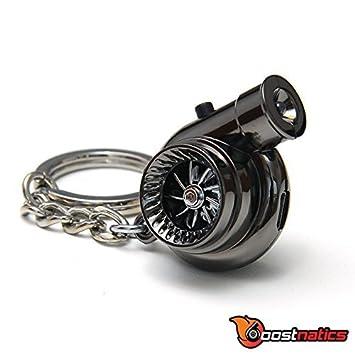 boostnatics eléctrico recargable electrónico Turbo Llavero con sonido + LED. - Negro Nueva Versión 5 (V5): Amazon.es: Coche y moto