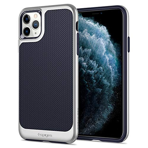 Spigen Neo Hybrid Designed for iPhone 11 Pro Max Case (2019) - Satin Silver