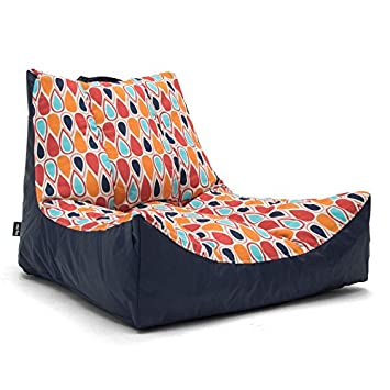 Incredible Big Joe 2180927 Fiesta Geo Drop Bean Bag Multicolor Captains Float Gmtry Best Dining Table And Chair Ideas Images Gmtryco