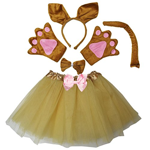 Kirei Sui Kids Kangaroo Costume Tutu Set Brown