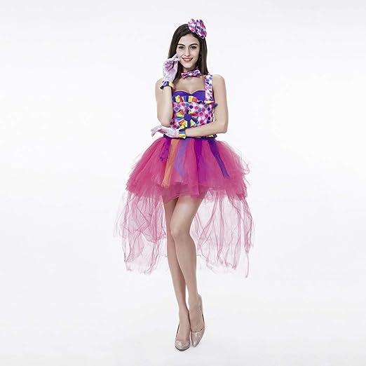 Disfraz De Payaso De Color Caramelo Disfraz De Halloween For Mujer ...