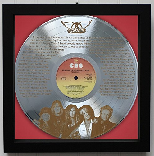 Aerosmith Dream On Framed Laser Etched Platinum LP M4
