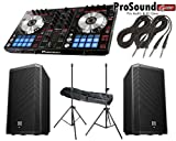Pioneer DDJ Series DDJ-SR Digital Performance DJ Controller + (2) EV ZLX12P Professional Powered Speakers + FREE Aluminium Pair Speaker Stands /Bag + Cables