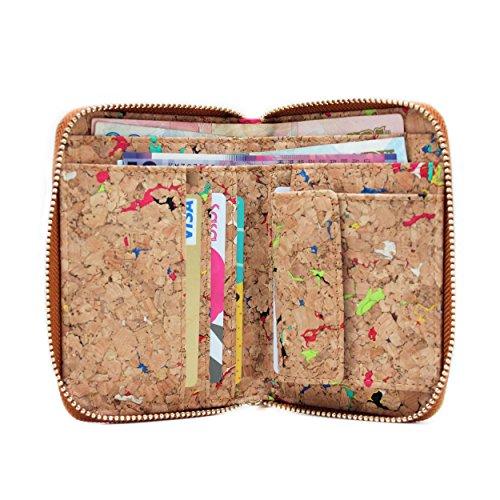 liège Fermeture Vegan Cadeau avec Motif boshiho avec Friendly Multicolore de portefeuille autour support de Mode pièce Éclair Poche en Eco monnaie Portefeuille q8IEH