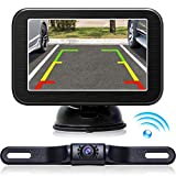 Wireless Backup Camera with Monitor System 5'' LCD Wireless Monitor Rearview up