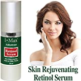 I Max Anhydrous Serum of Retinol, Tocopherol, B-Carotene, CoQ-10, Omega 3 6 9 and Rose Hip Seed Oils to rejuvenate, soothe, firm skin and reduce wrinkles/Gel Type Serum_Rev