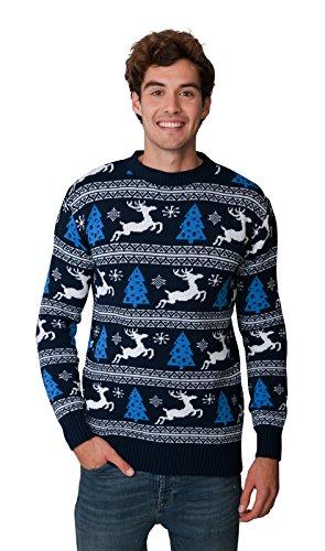 Vino Esclusivamente Sky Natale nbsp;misure l nbsp;da 2018 Santa nbsp;x m Night L xl Novità Camp Ltd A Unisex Donna S nbsp;x nbsp;– Da Maglione Fairisle L Funky New Uomo Blue L nbsp;x 3 2 Party 4 ZxRaTqn