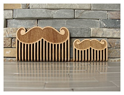 Mustache Wood Beard Comb Set by L.I.M. Lazer