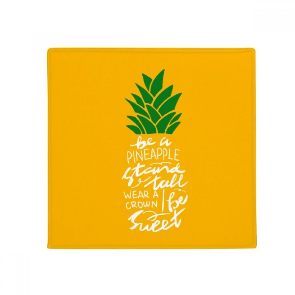 DIYthinker Pineapple Stand Tall Be Sweet Yellow Quote Anti-Slip Floor Pet Mat Square Home Kitchen Door 80Cm Gift