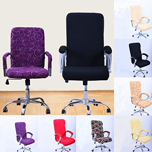 Caveen Office Chair Slipcover Computer Chair Universal Boss Chair Cover Modern Simplism Style High Back