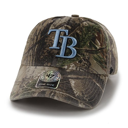 Bay Tampa Single Rays ('47 MLB Tampa Bay Rays Clean Up Adjustable Hat, One Size, Realtree Camouflage)