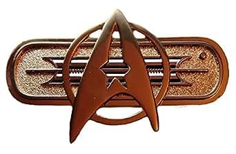 "Star Trek Movie Federation Uniform Chest Insignia Deluxe 3"" Wide PIN"