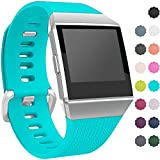 Wepro Fitbit Ionic Watch Band, Bands Replacement Sport Strap Accessory for Fitbit Ionic Smartwatch, Buckle, Teal, Large