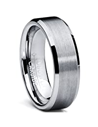 Metal Masters Co.® 6MM High Polish / Matte Finish Tungsten Ring, Bands Sizes 5 to 13