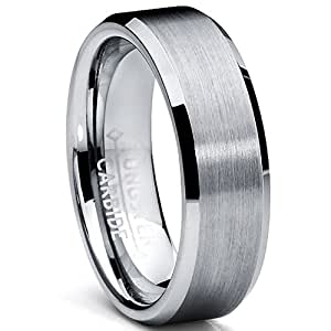 6MM High Polish / Matte Finish Tungsten Ring, Bands Size 5.5
