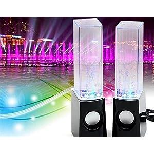 ZHAOCAI Water Speakers Black Music Dancing Water Show Fountain Speaker/Water Dancing Speaker / Water Spray Speaker/ Computer Speakers / Mp3 Speakers, Black