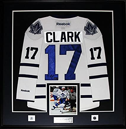 finest selection 3db38 f619f Wendel Clark Toronto Maple Leafs Signed White Jersey NHL Hockey Collector  Frame
