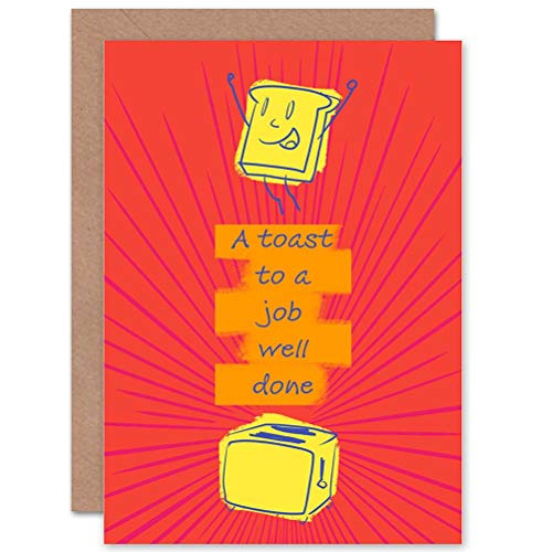 (Wee Blue Coo Card Greeting Congratulations Happy Toast Well Done Job Gift)
