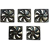 Apevia AF58S-BK 80mm 4pin Silent Black Case Fan - Connect to Power Supply (5-pk)