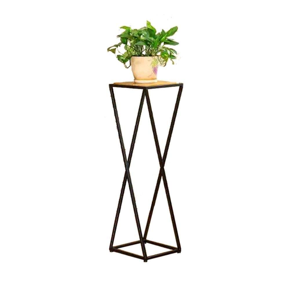Dciszl Flower Stand Iron Metal Frame Flower Stand Plant Pot Rack Garden Storage Rack Indoor Or Outdoor Living Room Balcony Decoration (3 Sizes) (Size: 30x30x80cm) (Size : 30x30x100cm)