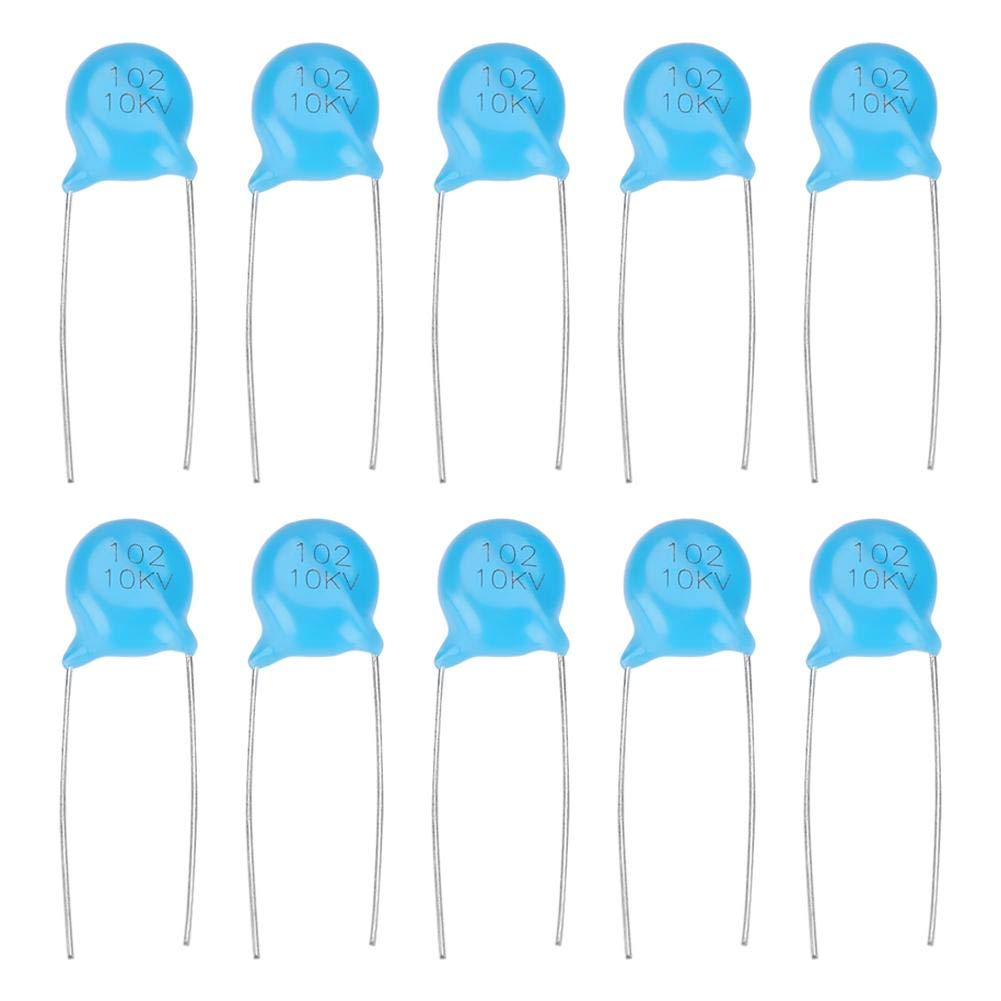 Ceramic Capacitors Disc Capacitor 100pF 10kV RM10 #BP 2 PCS