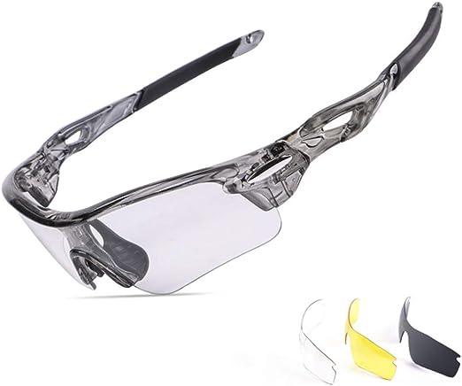 QWERTU Que cambian de Color de Ciclismo Gafas de Sol, Gafas ...
