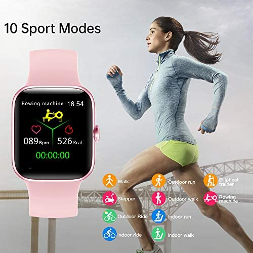"Smart Watch for Men Women,Fitness Tracker with 1.54"" Full Touch Color Screen,IP67 Waterproof Pedometer Smartwatch with Pedometer Heart Rate Monitor Sleep Tracker for Android and iOS Phones"