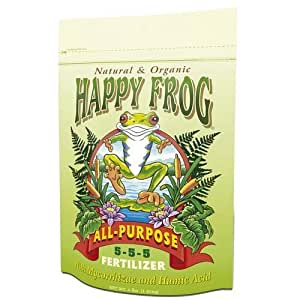 Hydrofarm FX14058 4LB Happy Frog All Purpose or Antique Pewter Fert - Quantity 12