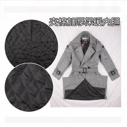 Mayihang vestido largo abrigo en las cualidades de un gran anorak Aplastamiento de algodón gris