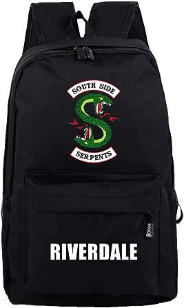 Flyself Girls Riverdale Backpacks Southside Serpents Printed Laptop Rucksack School Bag Daypack Students Hiking Travel Bag