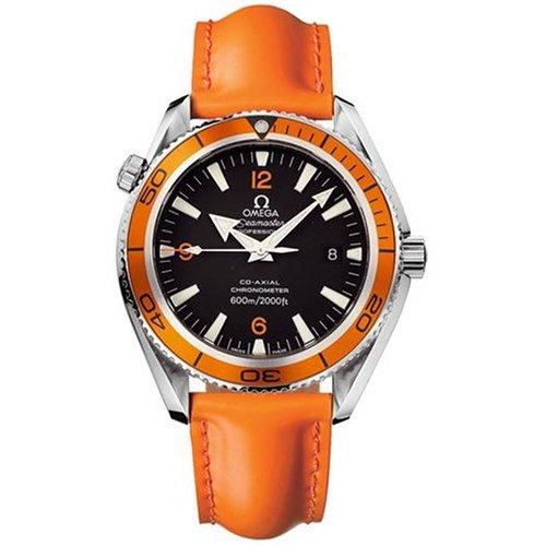 Omega Seamaster Planet Ocean Chronometer (Omega Men's 2908.50.83 Seamaster Planet Ocean XL Automatic Chronometer Orange Strap Watch)