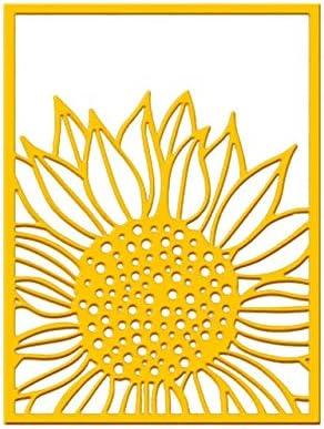 Amazon.com: Sunflower Background Dies Frame Metal Cutting Dies for DIY Scrapbooking Album Stamp Paper Card Embossing Diecuts
