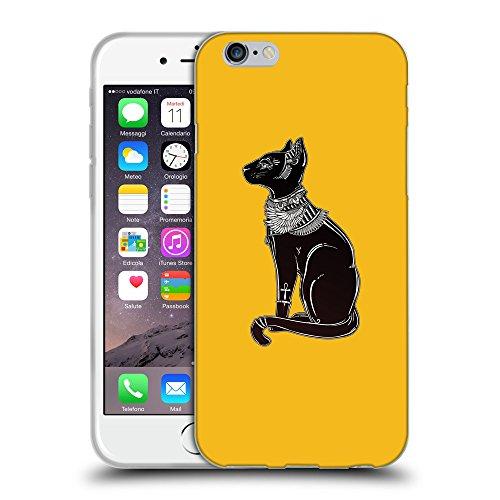"GoGoMobile Coque de Protection TPU Silicone Case pour // Q08090602 Goddess Bastet 1 ambre // Apple iPhone 6 4.7"""