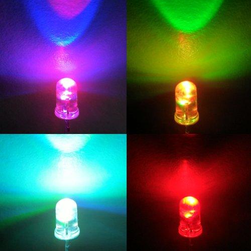 Pack of 30 H/&PC-73277 microtivity IL604 5mm RGB Slow-Rotating LED w//Resistors