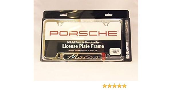 Warranty New Genuine Porsche 911 License Plate Frame Brushed Silver
