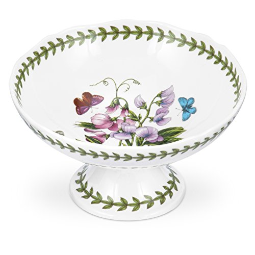 Porcelain Footed Bowl - Portmeirion Botanic Garden Scalloped Edge Footed Bowl