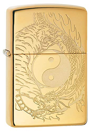 Zippo Tiger and Dragon Design Pocket Lighter
