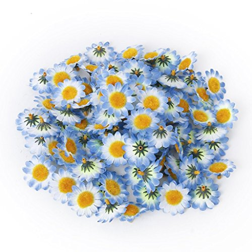 MXXGMYJ 100Pcs Artificial Flowers Wholesale Fake Flowers Heads Gerbera Daisy Silk Flower Heads Sunflowers Sun Flower Heads for Wedding Party Flowers Decorations Home D