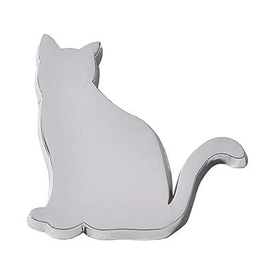 FCREW Metal Cat Emblem Sticker for Car (Sitting cat): Automotive