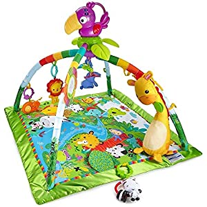 Fisher-Price Rainforest Gym, Baby Playmat With Music And Lights, Suitable From Birth plus