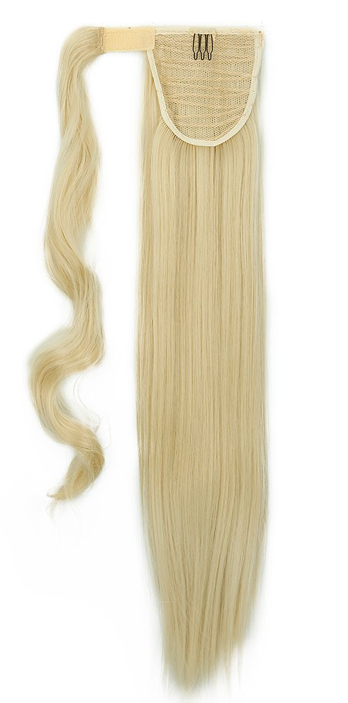 26 inches Fashion Long Wrap Around Ponytail Straight Clip in Pony Tail Hair Extension Extensions Bleach Blonde UK PNC Shopping Mall