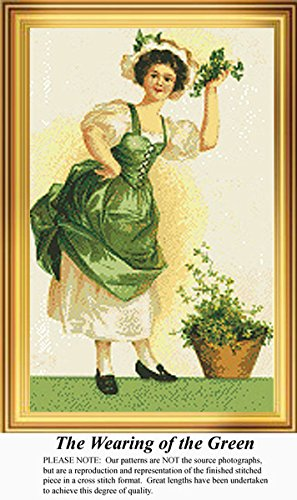 The Wearing of the Green, Irish Counted Cross Stitch Pattern (Pattern Only, You Provide the Floss and Fabric)