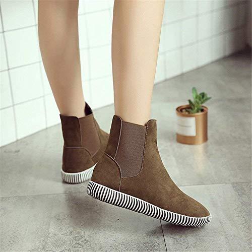 Deed Eu 38 Plat Décontracté Pied De Confortable Talon Rond 'bottes Ladies Tête Chaussures FwqH7rpFWZ