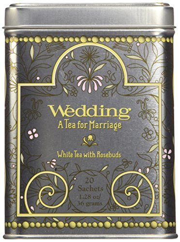 (Harney & Sons Caffeinated Wedding White Tea With Rosebuds and Petals Tin 20 Sachets)