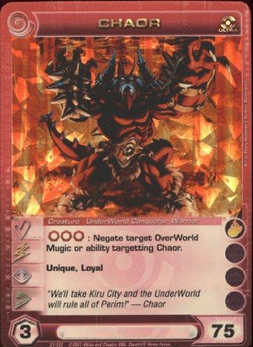CHAOR Chaotic Premium Edition Season 1 Ultra Rare Gold Foil Card & Unused Code (MAX ENERGY 75)