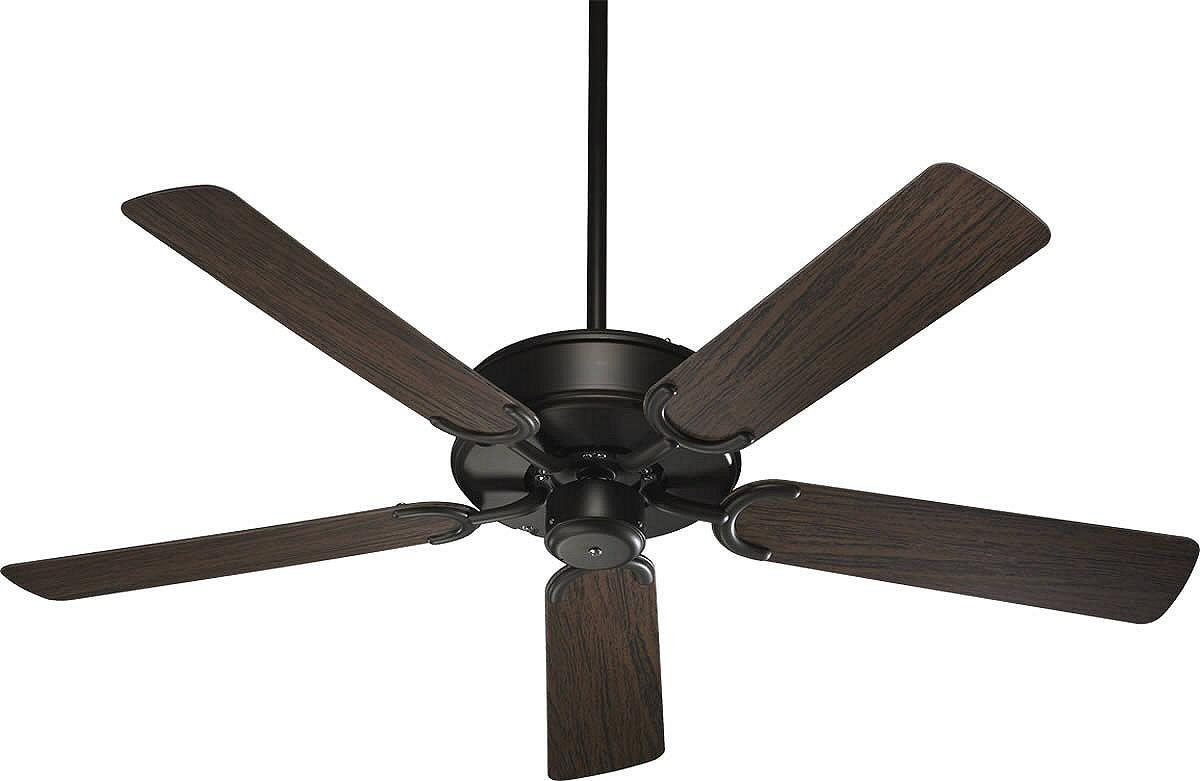 Quorum 146525-86 All-Weather Allure - 52 Inch Patio Fan, Oiled Bronze Finish with Walnut Blade Finish